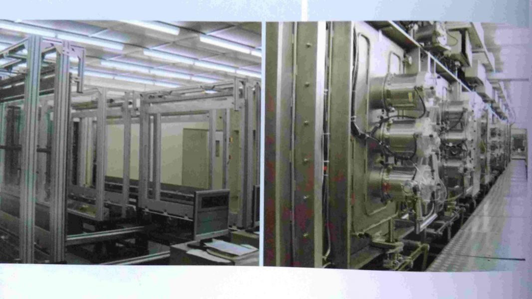 Sputtering line for touch screen production