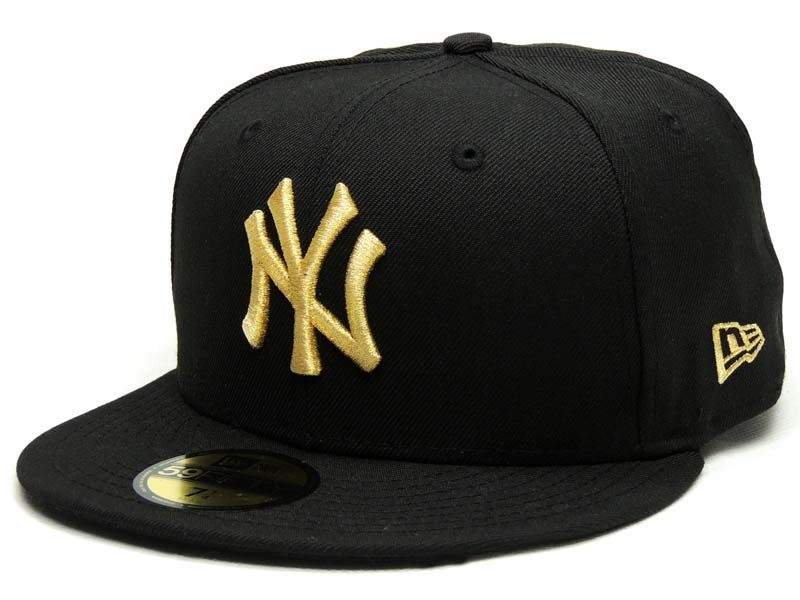 Boné New Era 59 fifty NY Dourado Size 7.1/2 Novo