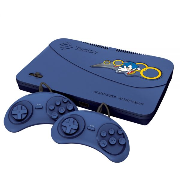 Master System Evolution Blue Tectoy 132 Jogos 2 Joysticks