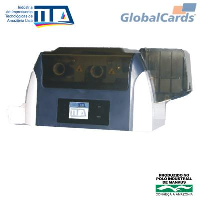 GlobalCards -  Impressora de Cartão Crachá PVC IITA Max - 2 faces - colorida