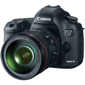 Canon EOS 5D Mark III DSLR Camera com lente