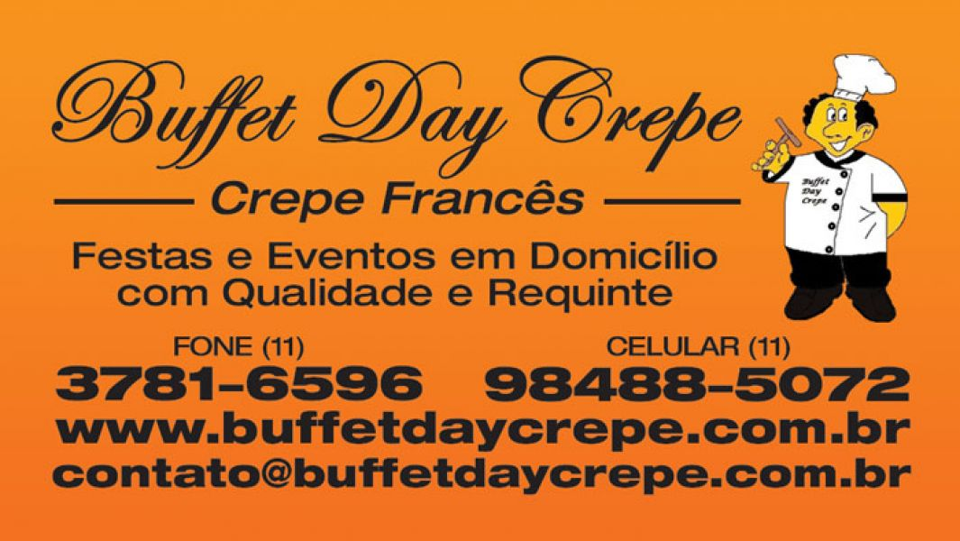 BUFFET DAY CREPE FRANCÊS! (11) 3781-6596