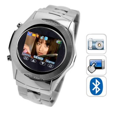 Relogio Celular Assassin - Quad Band Touchscreen Mp3/mp4 Fm