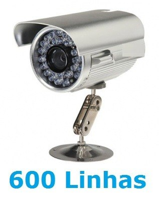 CAMERA  CCD SONY 1/3 INFRA VERMELHA DAY NIGHT 600 LINHAS 36LEDS 30 METROS