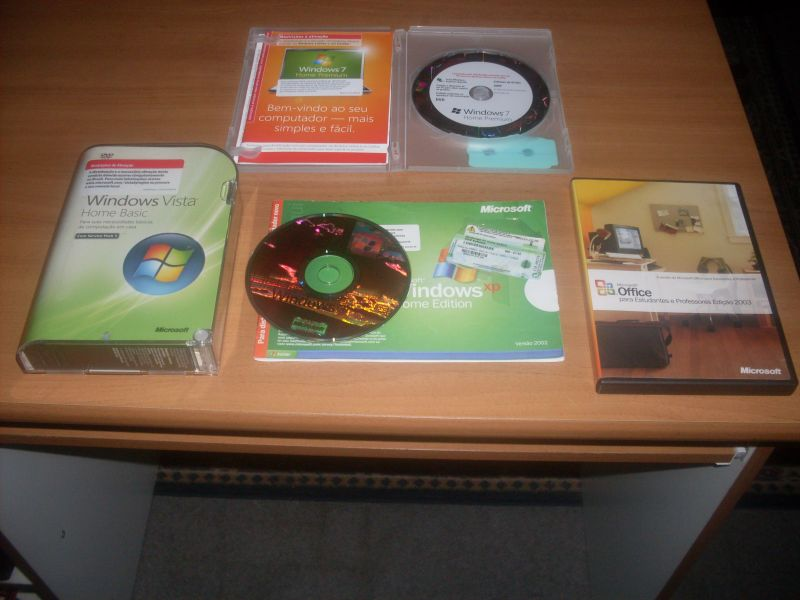 Sistemas Operacionais Windows XP, Windows Vista e Office Original R$ 50,00 (Cada)
