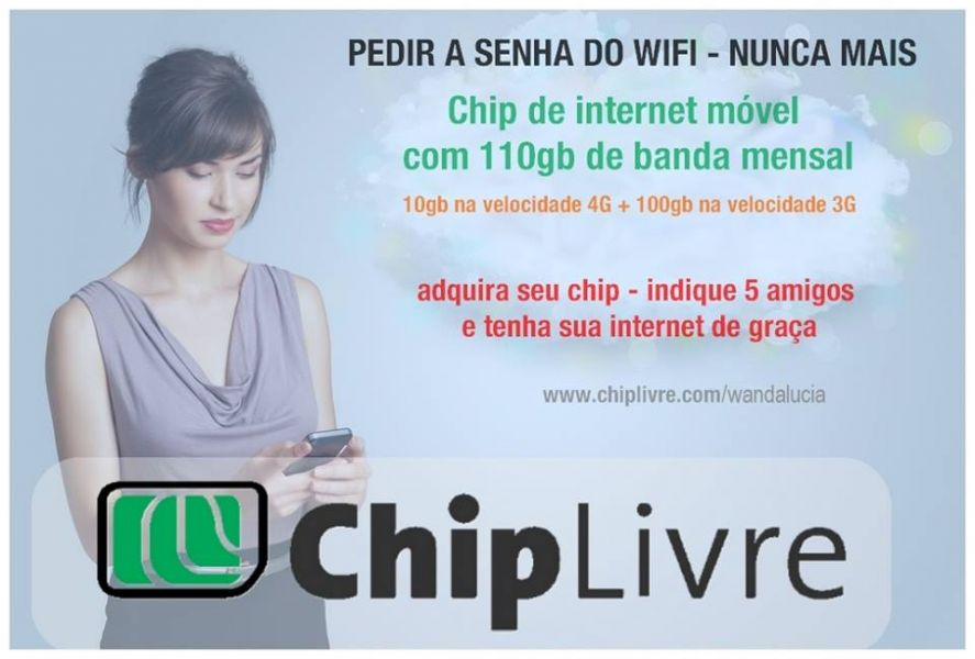 Internet movel 4g ilimitada