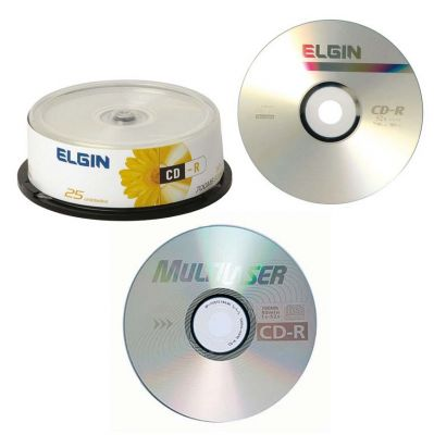 Midias CD Elgin ou Multilaser 700 mb