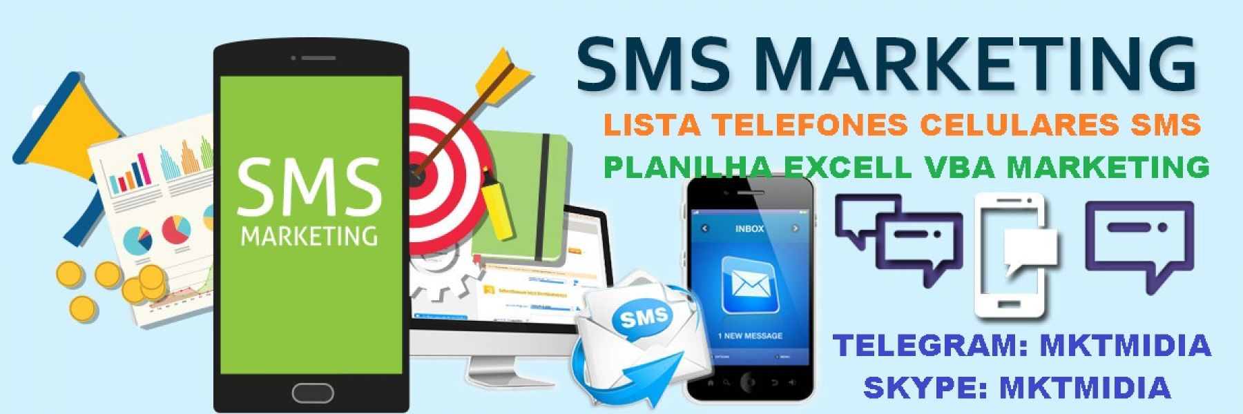 Lista Telefones Celulares Sms Marketing