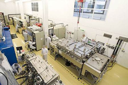 Production line for CIGS thin film solar cells