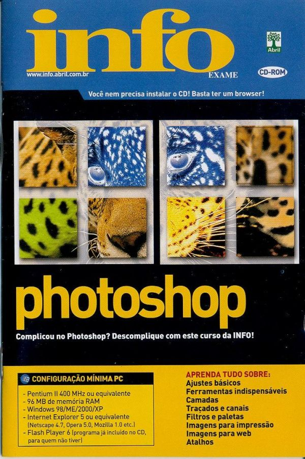 Vendo Videocurso de Photoshop em CD-Rom Original Infoexame