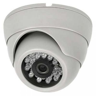 CAMERA DOME INTERNA CCD SONY 1/3 DAY NIGHT 600 LINHAS 24 LEDS 30 METROS