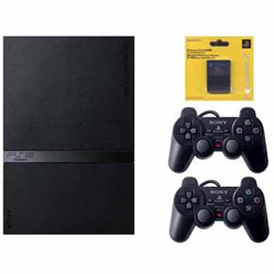 PlayStation 2 Destravado, com 2 Controles, 1 Memory Card, 20 Jogos